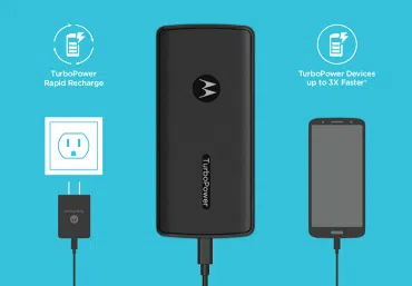 Recharge the power bank in a pinch with 12W input.