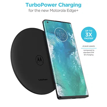 Experience peak charging speeds significantly faster than standard Qi charging